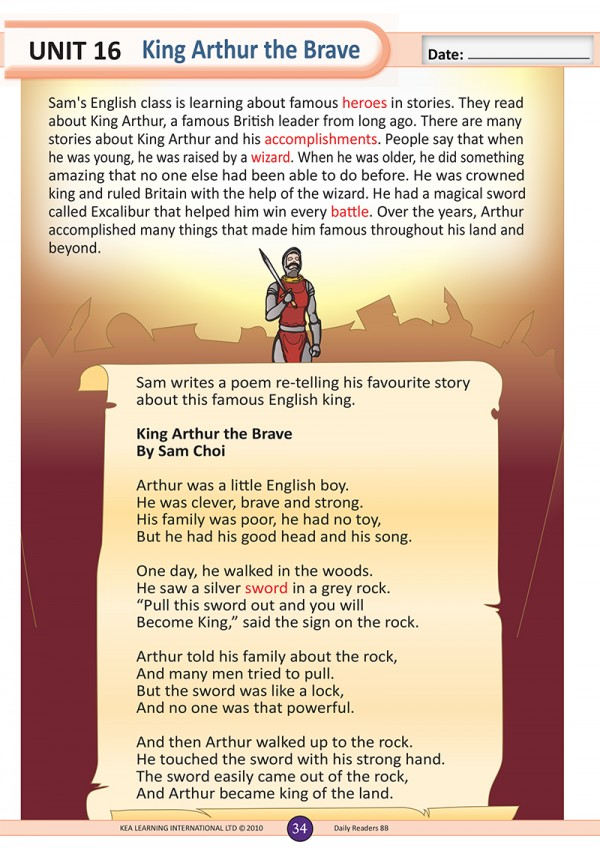 daily-readers-7b-unit-16-king-arthur-the-brave